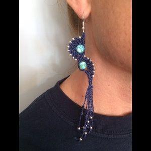 Handmade macrame earrings